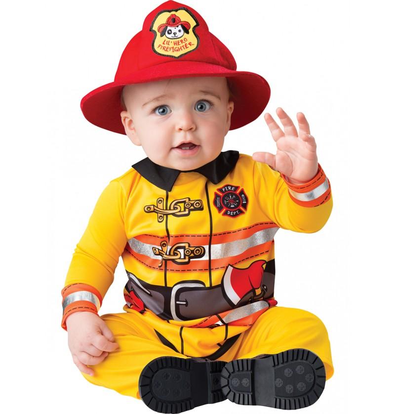 Disfraz de bombero intrépido para bebé