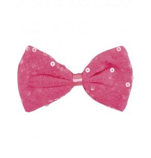 pajarita rosa con lentejuelas para adulto