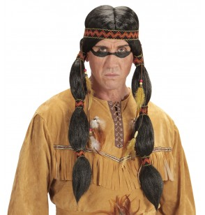 peluca de indio toro sentado para adulto