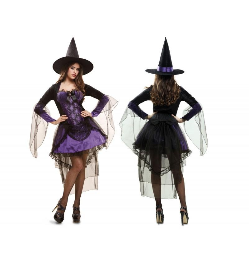 Disfraz de bruja glamourosa para mujer