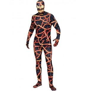 Disfraz de monstruo de lava para hombre