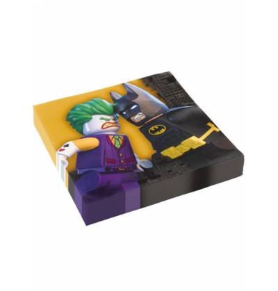 Set de 16 servilletas Batman la Lego película