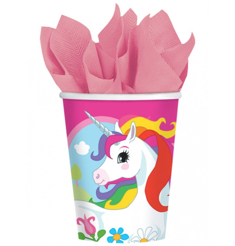Set de 8 vasos Unicornio