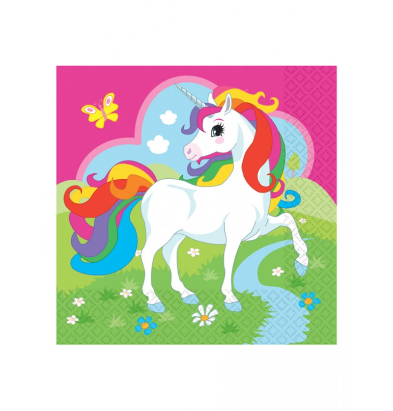 Set de 20 servilletas Unicornio