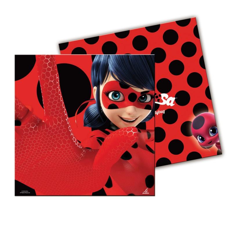 Set de 20 servilletas Las aventuras de Ladybug