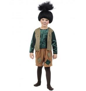 Disfraz de troll negro para bebé