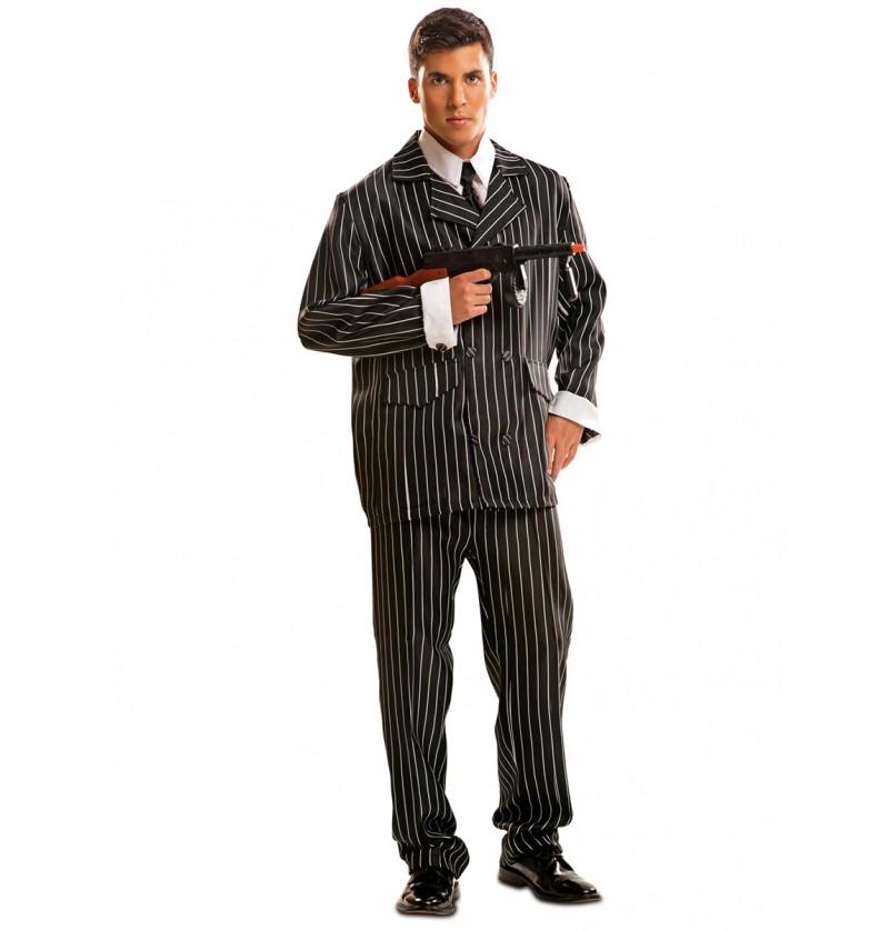 Disfraz de gángster mafioso para hombre