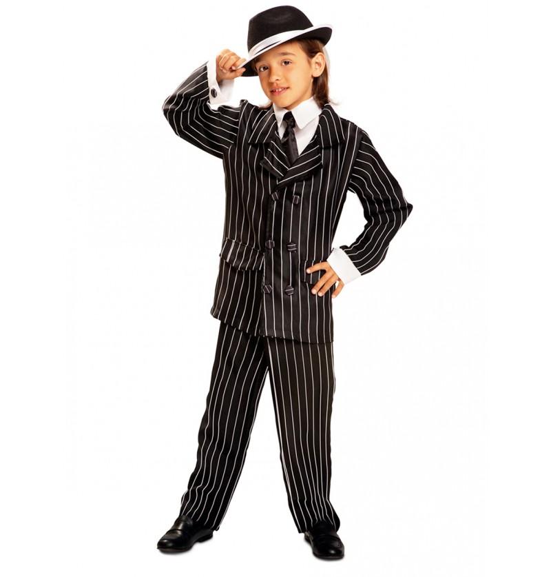 Disfraz de gánster de los años 20 para niño