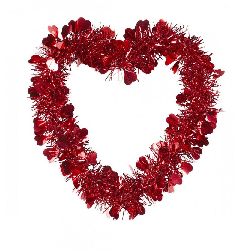 Corazón de San Valentín en hilos de cobre
