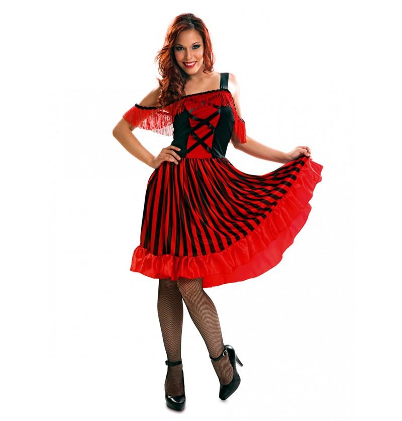 Disfraz de bailarina de can-can para mujer