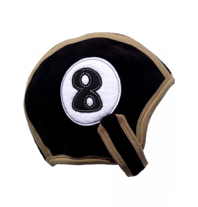 Gorro de bola de billar número 8 para bebé