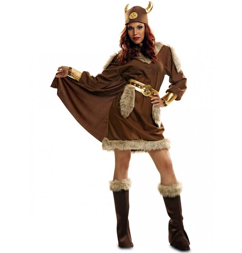 Disfraz de guerrera nórdica para mujer