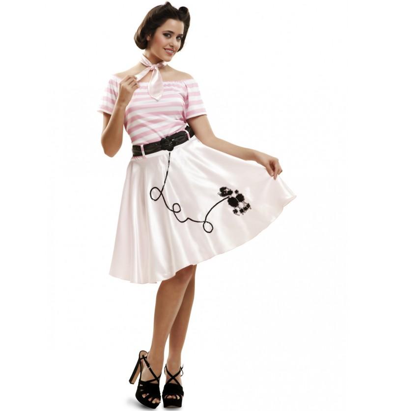 Disfraz de señorita rock and roll para mujer