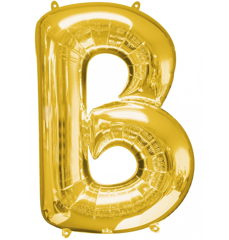 Globo letra B dorado