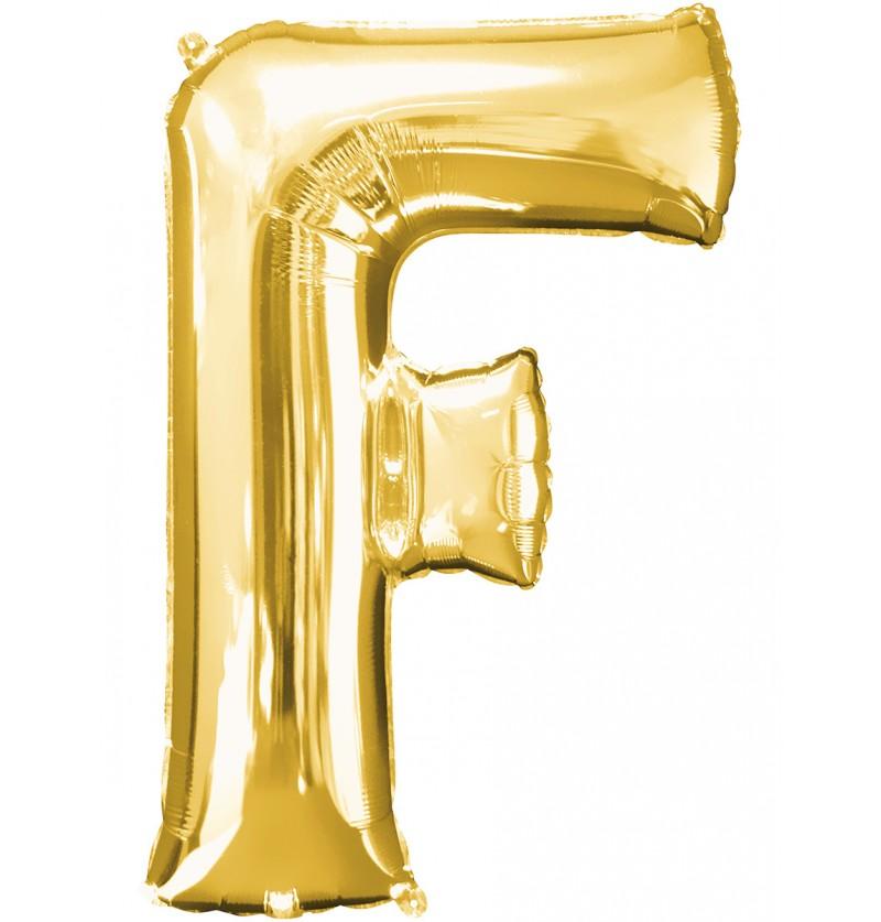 Globo letra F dorado
