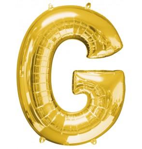 Globo letra G dorado