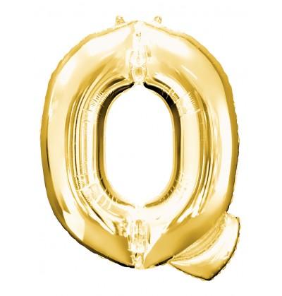 Globo letra Q dorado