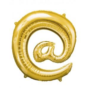 Globo arroba dorado